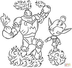 skylanders blast zone and mini jini coloring page free printable