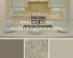 Quartz Countertops With Backsplash - current obsessions dreamy beige quartz countertops