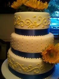 wedding cake royal blue 9 graduation cakes blue yellow flowers photo royal blue and