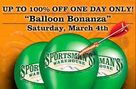 balloon bonanza up to 100 purchases at the sportsman s warehouse balloon bonanza