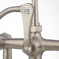 deck mounted tub faucet with diverter