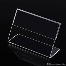 Paper Table L 2018 Clear 6x4cm L Shape Pmma Acrylic Plastic Table Sign Price Tag