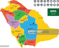 arabia map detailed vector map of saudi arabia vector getty images