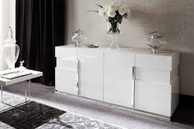 White Gloss Sideboards Sienna White White High Gloss Furniture Dining Room Lounge