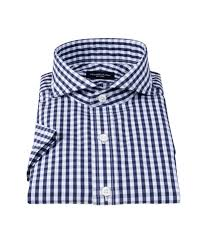 dark navy gingham shirts by proper cloth