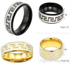 titanium men outlets men s titanium ring black gold pattern ring great wall of