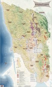 Sonoma California Map California Wine Regions Of Sonoma County