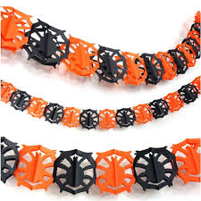 scary halloween decor paper garland outdoor yard party hanging