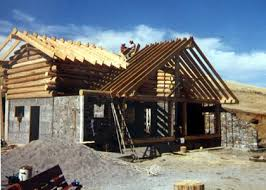 building a house ideas stone and log home construction building a passive solar home on a