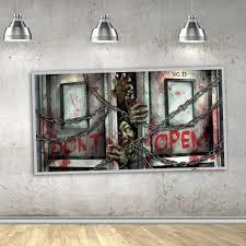 zombie scene setter wall decoration halloween spooky decorations