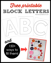 printable block letters and over 150 ways to fill them the