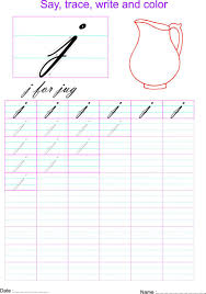 cursive small letter u0027j u0027 worksheet