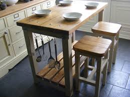 Rustic Kitchen Island Table Rustic Kitchen Island Breakfast Bar Work Bench Butchers Block With