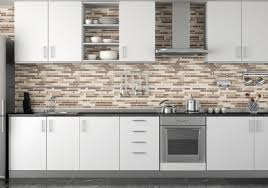 kitchen backsplash glass tile white cabinets doors marble