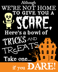 cute tile background halloween free printable sign with halloween poem for trick or treaters