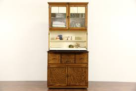 Kitchen Hoosier Cabinet Hygena English 1930 U0027s Oak Vintage Hoosier Kitchen Cupboard Or