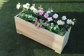 metre large extra tall wooden garden planter trough hand made in