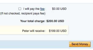 paypal starts charging for sending money from paypal to friends and