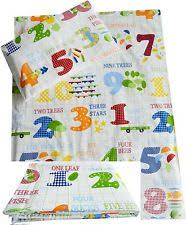 Cot Bed Duvet Cover Boys Numbers U0026 Letters Bedding For Children Ebay