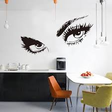 online get cheap wall mural portrait aliexpress com alibaba group hot sexy eyes wall sticker decals diy home decor wall mural removable stickers fg china