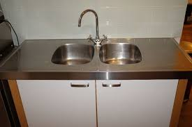 Ikea Varde Freestanding Kitchen Sink Unit With Double Stainless - Kitchen sink units ikea