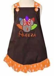 mouse turkey thanksgiving dress or with fabric feathers and