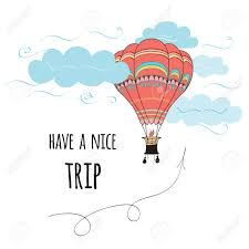 send this beautifull greeting balloons greeting card with text a trip decorated hot air balloon