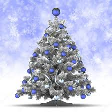 christmas card template christmas tree on blue background