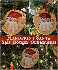 handprint santa salt dough ornaments impronte pasta di