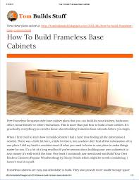 how to build european style cabinets how to build frameless base cabinets