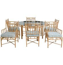 Bamboo Dining Room Chairs Faux Bamboo Patio Furniture Dining Set Ebth