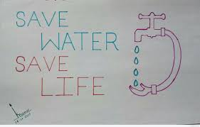 pencil sketches on save water save water pencil sketch