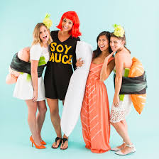 dress up like sushi for the best group halloween costume ever