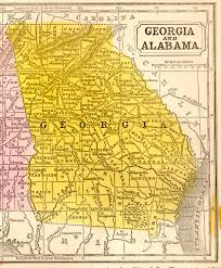 County Map Ga 1851 Georgia State Map