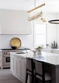 Chandelier Kitchen 5 Light Natural Brass Halogen Linear Chandelier