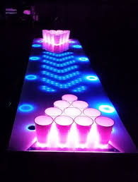 blacklight beer pong want one in the future house for the home