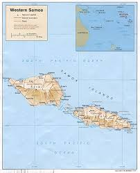 samoa in world map samoa maps perry castañeda map collection ut library