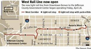 light rail schedule w line rtd west light rail line opens with speeches free rides the