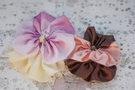 flowers for headbands how to make fabric flowers or ribbon flowers with the pansy tutorial