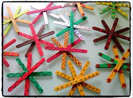 bricolage de noel étoiles de noel bricolage enfant batonnet en