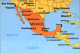 map of the mexico map