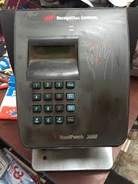 handpunch 3000 biometric hand scanner time clock hp 3000