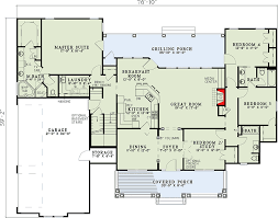 what is a split floor plan spectacular split bedroom house plan 59377nd architectural