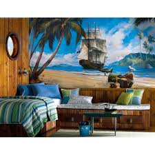beach themed home decor ideas marvelous beach theme bedroom pirates wall painting wooden framed