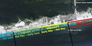 Navarre Beach Florida Map by Navarre Beach Renourishment Underway