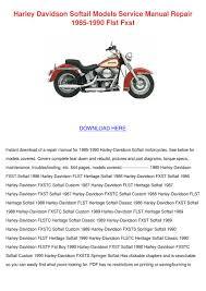 Harley Davidson Softail Models Service Manual By Kareemgomez Issuu