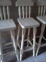 taburetes de pino banquetas taburetes altas con respaldo de pino 380 00 en mercado
