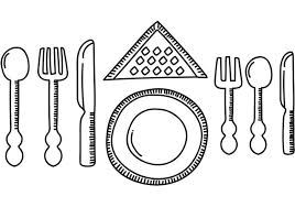 set table to dinner dinner set table vector download free vector art stock graphics