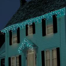trim a home led 100ct icicle lights clear colored shop