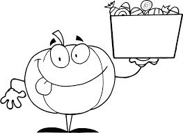 pumpkin holding candy coloring pages coloring pages for kids